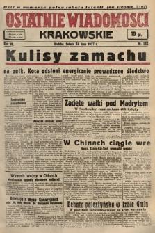 Ostatnie Wiadomości Krakowskie. 1937, nr203