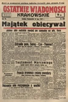 Ostatnie Wiadomości Krakowskie. 1937, nr205
