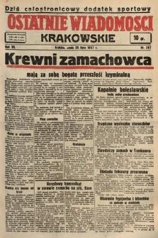 Ostatnie Wiadomości Krakowskie. 1937, nr207