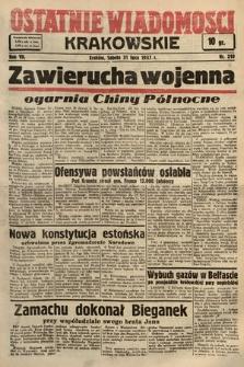 Ostatnie Wiadomości Krakowskie. 1937, nr210