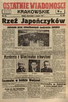 Ostatnie Wiadomości Krakowskie. 1937, nr212