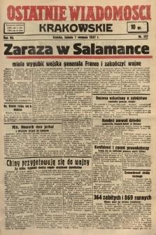 Ostatnie Wiadomości Krakowskie. 1937, nr217