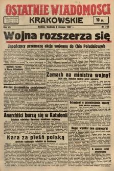 Ostatnie Wiadomości Krakowskie. 1937, nr218