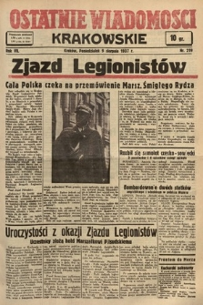 Ostatnie Wiadomości Krakowskie. 1937, nr219