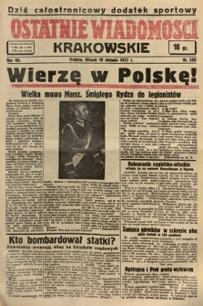 Ostatnie Wiadomości Krakowskie. 1937, nr220