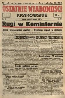 Ostatnie Wiadomości Krakowskie. 1937, nr224