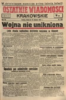 Ostatnie Wiadomości Krakowskie. 1937, nr225