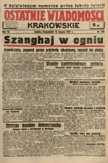 Ostatnie Wiadomości Krakowskie. 1937, nr226