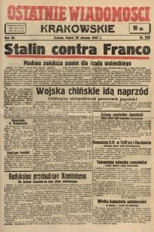 Ostatnie Wiadomości Krakowskie. 1937, nr230