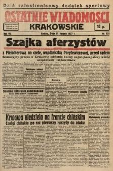 Ostatnie Wiadomości Krakowskie. 1937, nr235