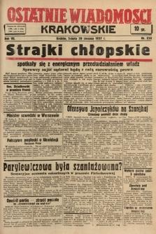 Ostatnie Wiadomości Krakowskie. 1937, nr238