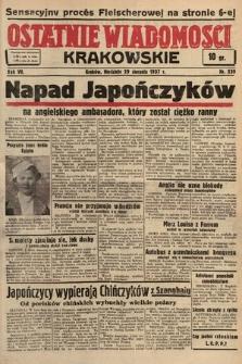 Ostatnie Wiadomości Krakowskie. 1937, nr239