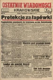Ostatnie Wiadomości Krakowskie. 1937, nr240