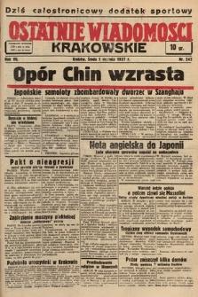 Ostatnie Wiadomości Krakowskie. 1937, nr242