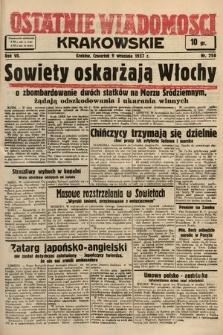 Ostatnie Wiadomości Krakowskie. 1937, nr250