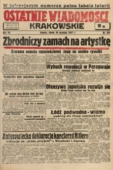 Ostatnie Wiadomości Krakowskie. 1937, nr251