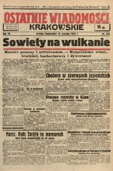 Ostatnie Wiadomości Krakowskie. 1937, nr254