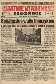 Ostatnie Wiadomości Krakowskie. 1937, nr260