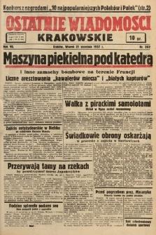 Ostatnie Wiadomości Krakowskie. 1937, nr262