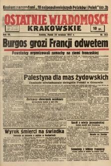 Ostatnie Wiadomości Krakowskie. 1937, nr265