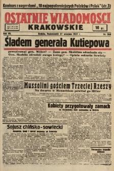 Ostatnie Wiadomości Krakowskie. 1937, nr268