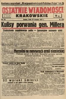 Ostatnie Wiadomości Krakowskie. 1937, nr270