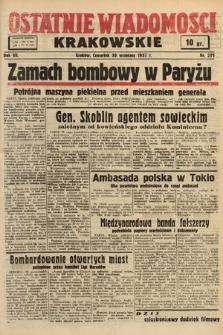 Ostatnie Wiadomości Krakowskie. 1937, nr271