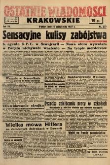 Ostatnie Wiadomości Krakowskie. 1937, nr277