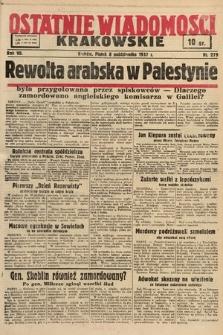 Ostatnie Wiadomości Krakowskie. 1937, nr279