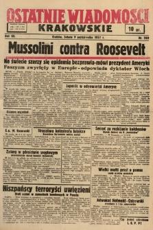 Ostatnie Wiadomości Krakowskie. 1937, nr280
