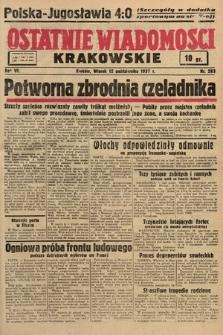 Ostatnie Wiadomości Krakowskie. 1937, nr283