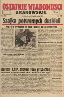 Ostatnie Wiadomości Krakowskie. 1937, nr286