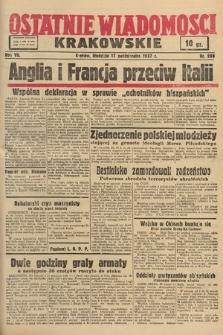 Ostatnie Wiadomości Krakowskie. 1937, nr288