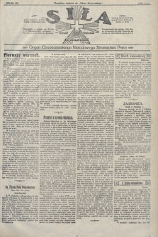 Siła : organ Chrześcijańskiego Narodowego Stronnictwa Pracy. 1922, nr17