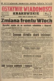 Ostatnie Wiadomości Krakowskie. 1937, nr294