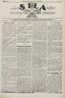 Siła : organ Chrześcijańskiego Narodowego Stronnictwa Pracy. 1922, nr20
