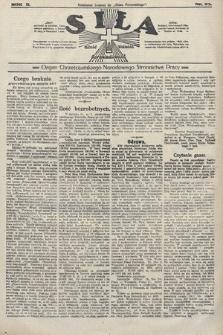 Siła : organ Chrześcijańskiego Narodowego Stronnictwa Pracy. 1922, nr23