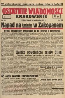 Ostatnie Wiadomości Krakowskie. 1937, nr295