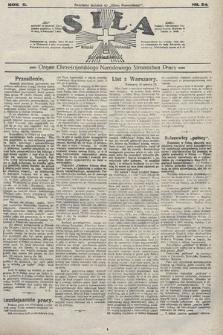 Siła : organ Chrześcijańskiego Narodowego Stronnictwa Pracy. 1922, nr24