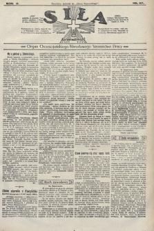 Siła : organ Chrześcijańskiego Narodowego Stronnictwa Pracy. 1922, nr27