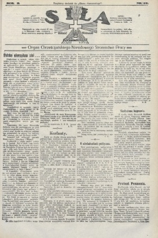 Siła : organ Chrześcijańskiego Narodowego Stronnictwa Pracy. 1922, nr29