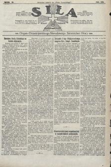 Siła : organ Chrześcijańskiego Narodowego Stronnictwa Pracy. 1922, nr30