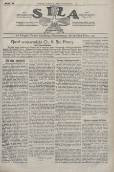 Siła : organ Chrześcijańskiego Narodowego Stronnictwa Pracy. 1922, nr31