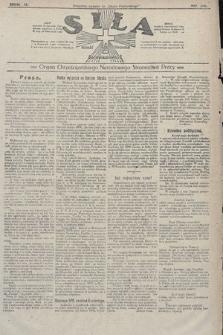 Siła : organ Chrześcijańskiego Narodowego Stronnictwa Pracy. 1922, nr34
