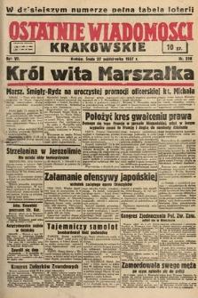 Ostatnie Wiadomości Krakowskie. 1937, nr298