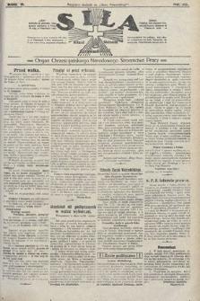 Siła : organ Chrześcijańskiego Narodowego Stronnictwa Pracy. 1922, nr35