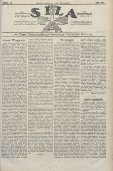 Siła : organ Chrześcijańskiego Narodowego Stronnictwa Pracy. 1922, nr36
