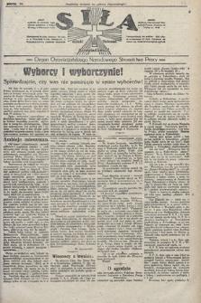 Siła : organ Chrześcijańskiego Narodowego Stronnictwa Pracy. 1922, nr37