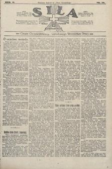 Siła : organ Chrześcijańskiego Narodowego Stronnictwa Pracy. 1922, nr39