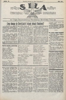 Siła : organ Chrześcijańskiego Narodowego Stronnictwa Pracy. 1922, nr42